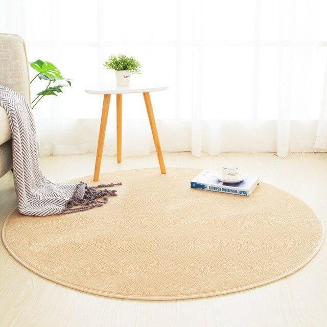 Großer Runder Teppich <br> Beige