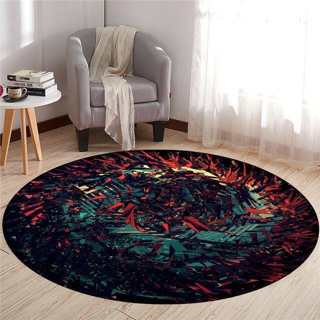 Großer Runder Teppich <br> Design