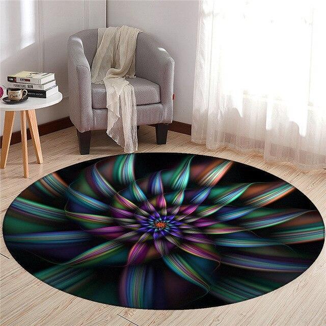 Großer Runder Teppich <br> Farbig