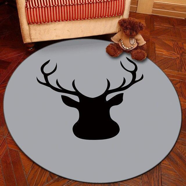 Großer Runder Teppich <br> Grau