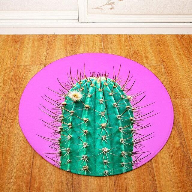 Großer Runder Teppich <br> Lila