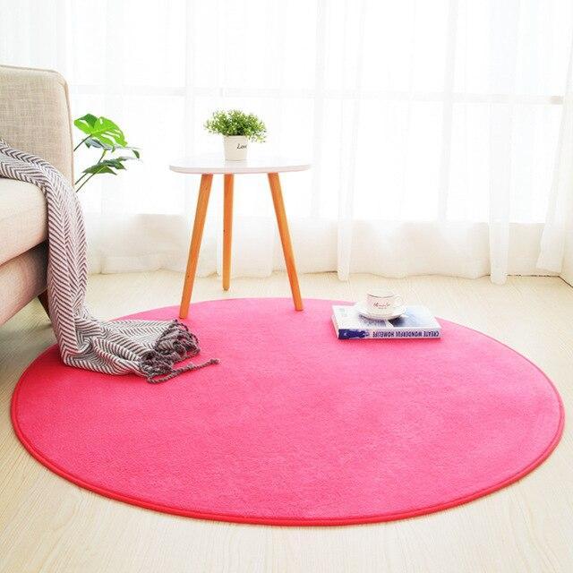 Großer Runder Teppich <br> Rosa