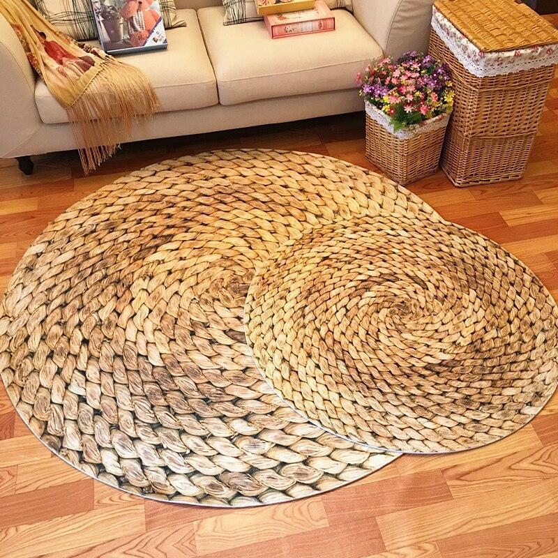 Großer Runder Teppich <br> Wohnzimmer