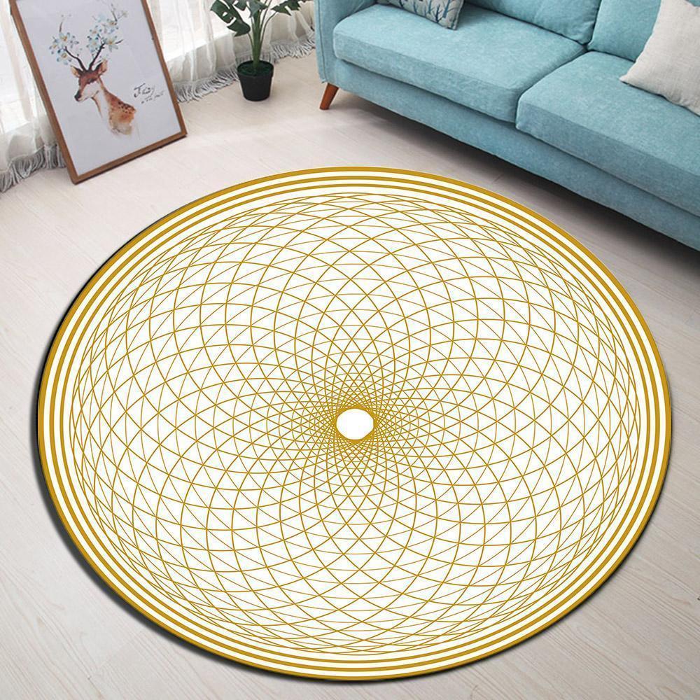 Kleiner Runder Teppich <br> Beige