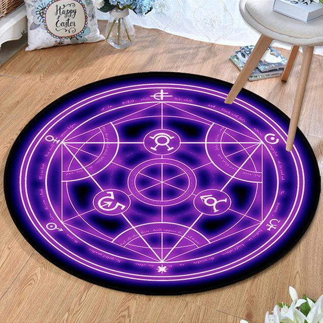Kleiner Runder Teppich <br> Dreieckige Muster