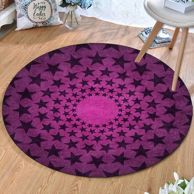 Kleiner Runder Teppich <br> Modern