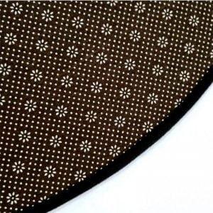 Kleiner Runder Teppich <br> Schwarzer