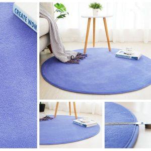 Runde Badematte <br> Blau