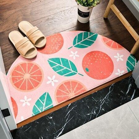 Runder Eingangsteppich <br> Grapefruit