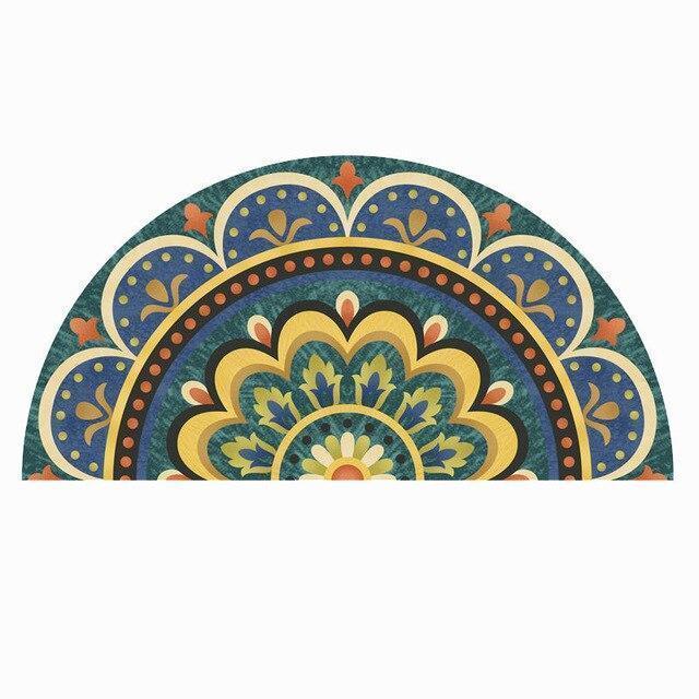 Runder Eingangsteppich <br> Marokkanischer Stil
