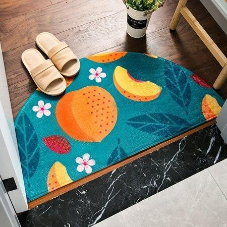 Runder Eingangsteppich <br> Obst
