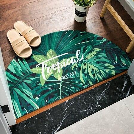 Runder Eingangsteppich <br> Tropisch