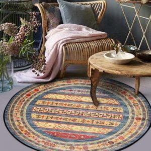 Runder Teppich <br> 60er Jahre