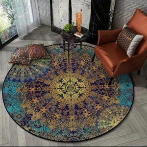 Runder Teppich  <br> Abstrakte Kunst