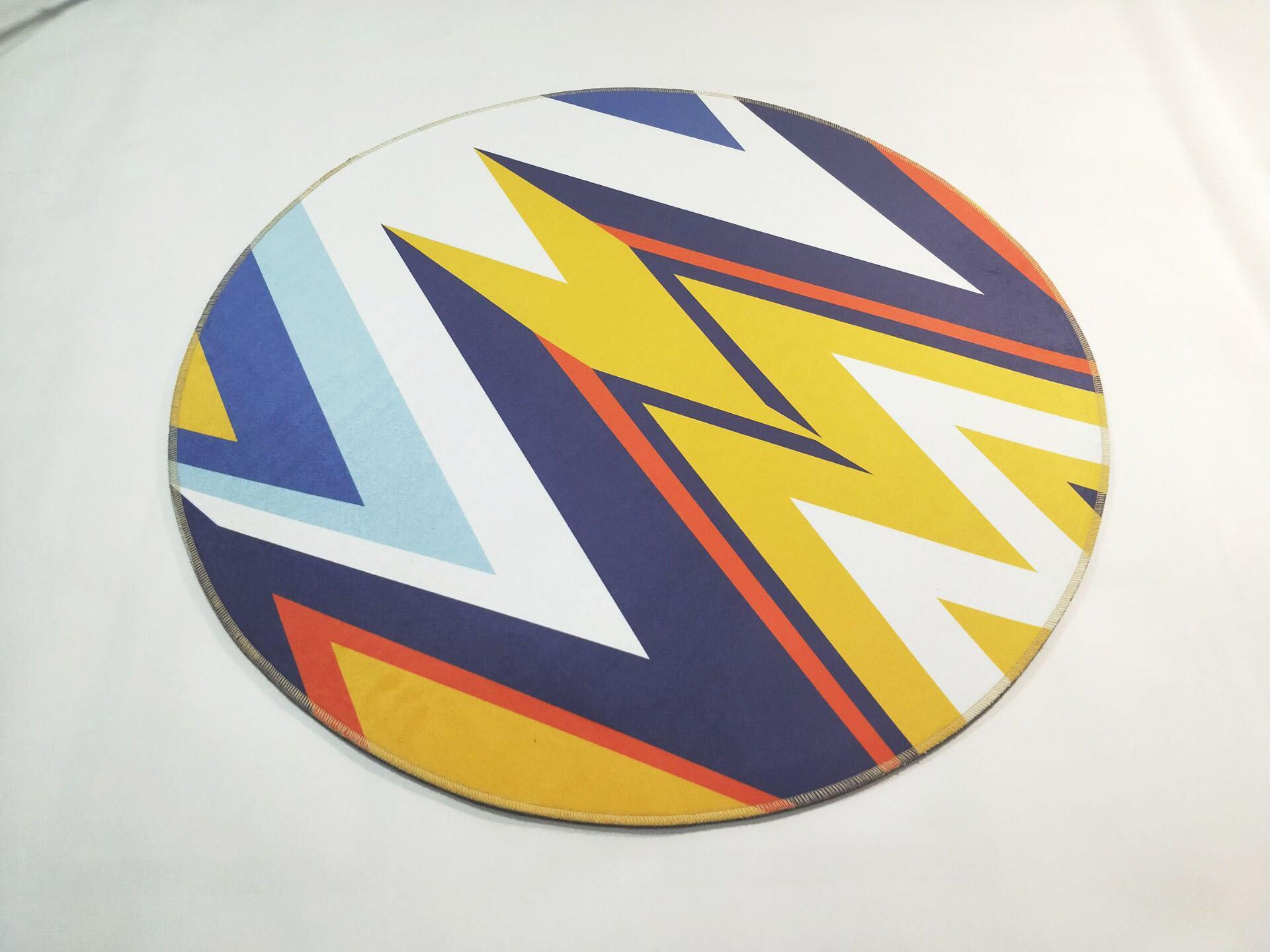 Runder Teppich <br> Abstrakte Muster