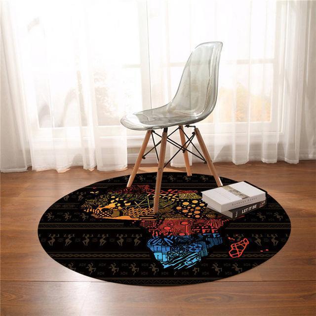 Runder Teppich <br> Afrika