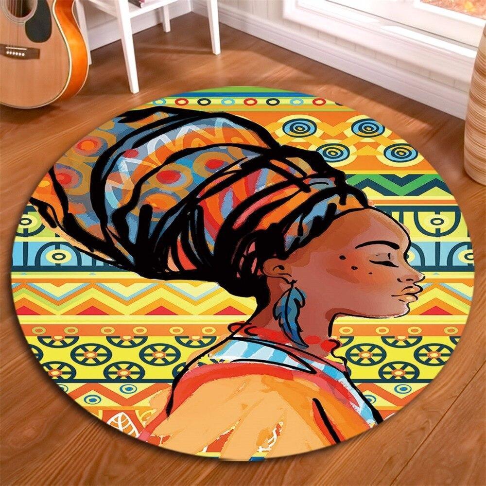 Runder Teppich <br> Afrikanischer Stil