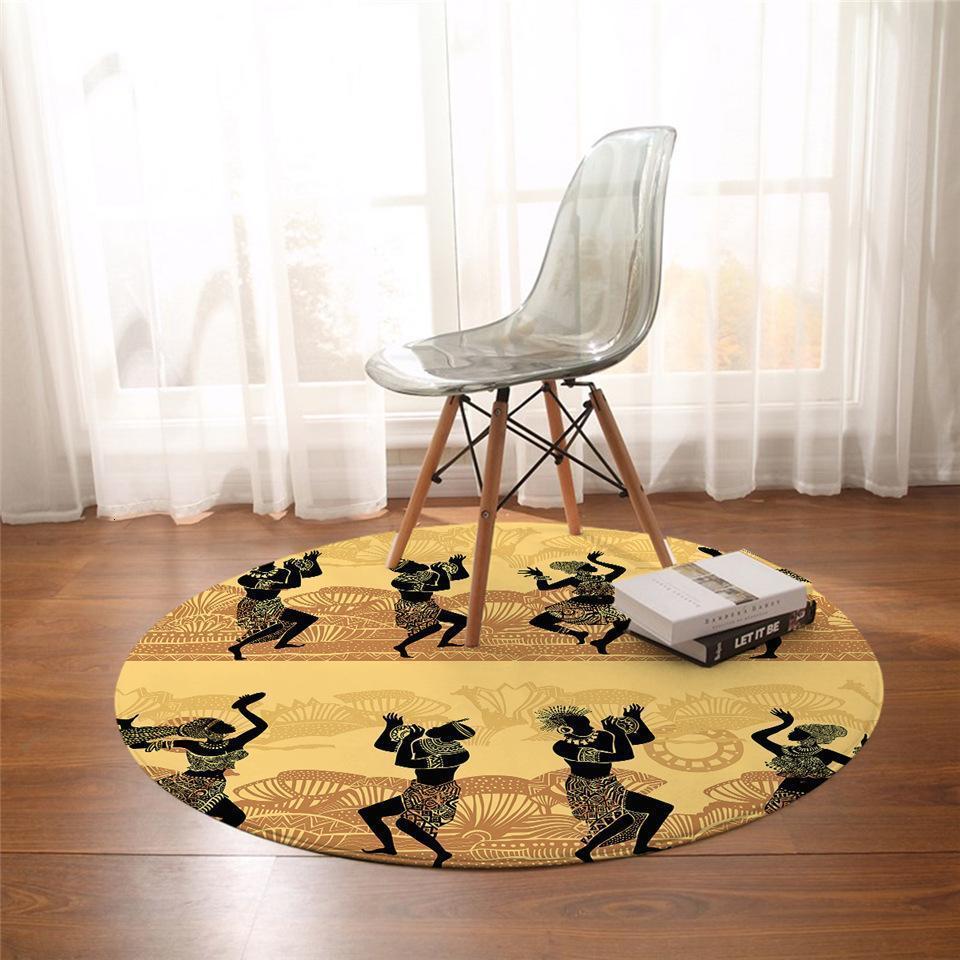Runder Teppich <br> Afrikanischer Tanz