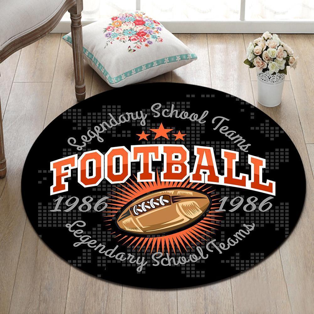Runder Teppich <br> Amerikanischer Fußball