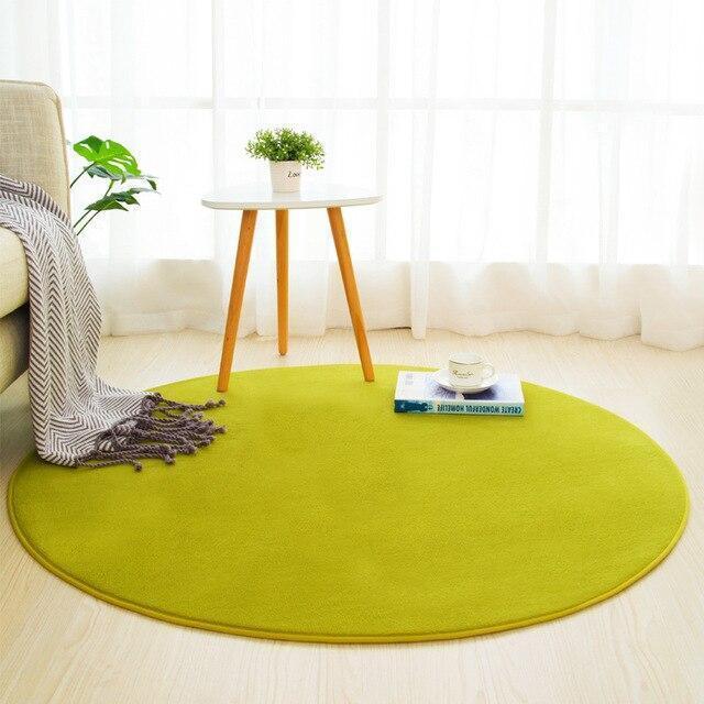 Runder Teppich <br> Anisgrün