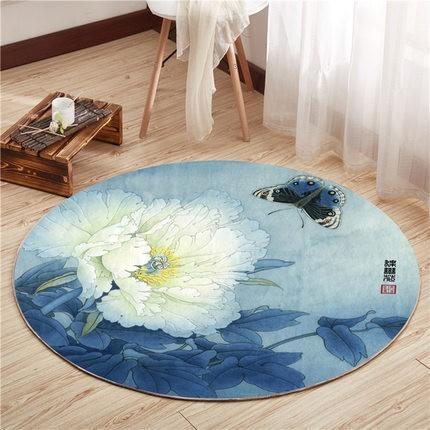 Runder Teppich <br> Asiatisch