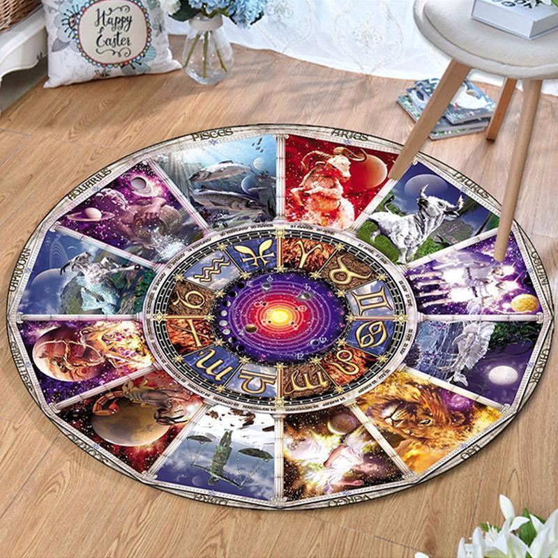 Runder Teppich  <br> Astrologie