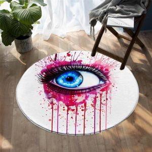 Runder Teppich <br> Auge
