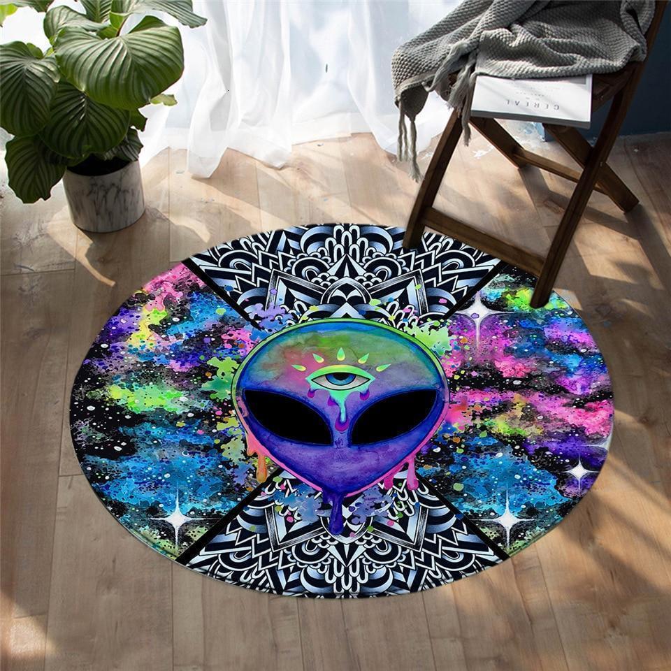 Runder Teppich <br> Außerirdische