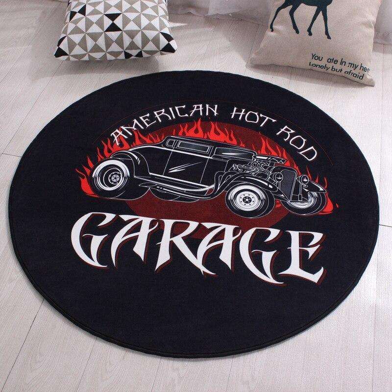 Runder Teppich  <br> Auto