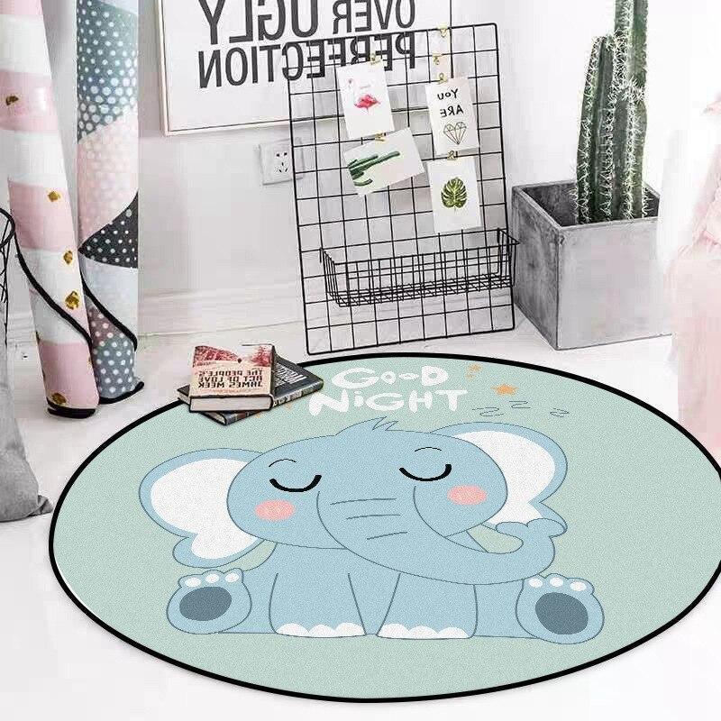 Runder Teppich <br> Baby Elefant
