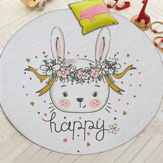 Runder Teppich <br> Baby Kaninchen