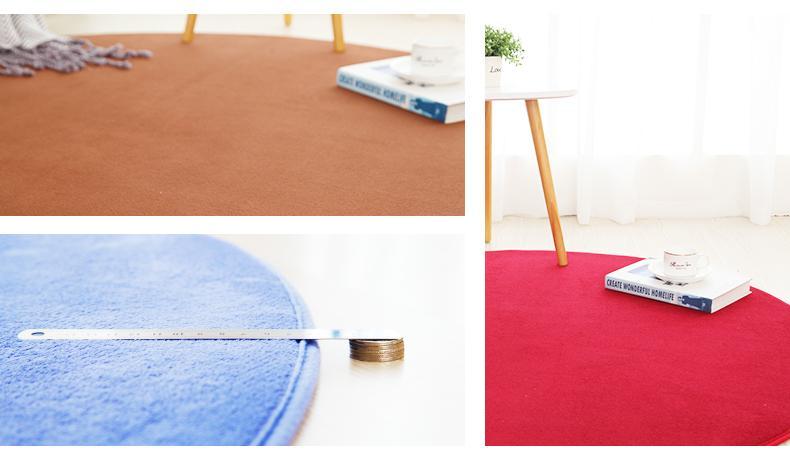 Runder Teppich <br> Badematte
