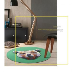 Runder Teppich <br> Bär