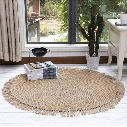 Runder Teppich <br> Binse
