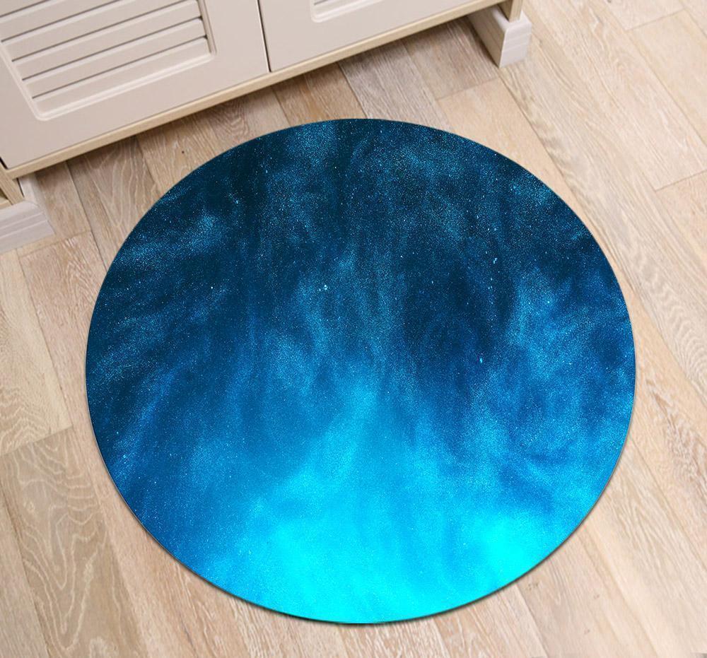 Runder Teppich <br> Blauer Himmel
