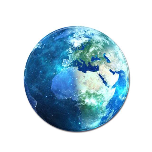 Runder Teppich <br> Blauer Planet