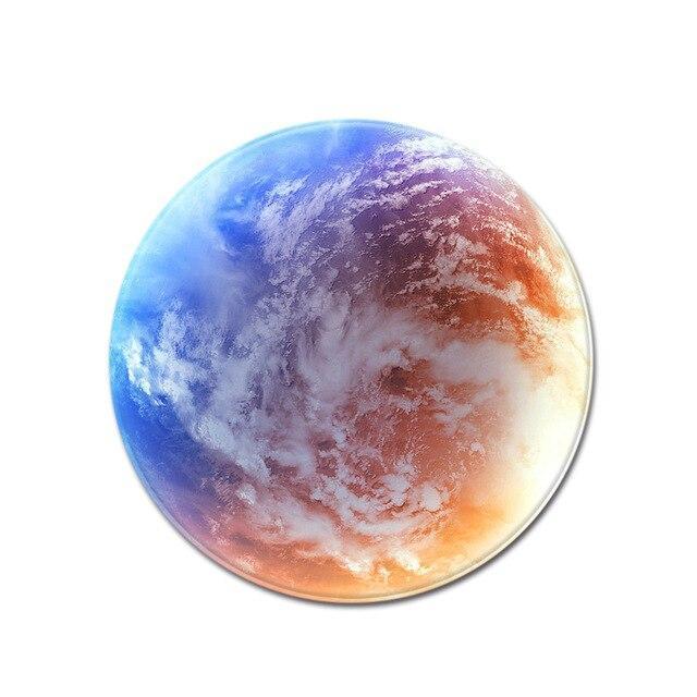 Runder Teppich  <br> Blick aus dem Weltraum
