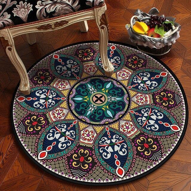 Runder Teppich <br> Böhmisches Design