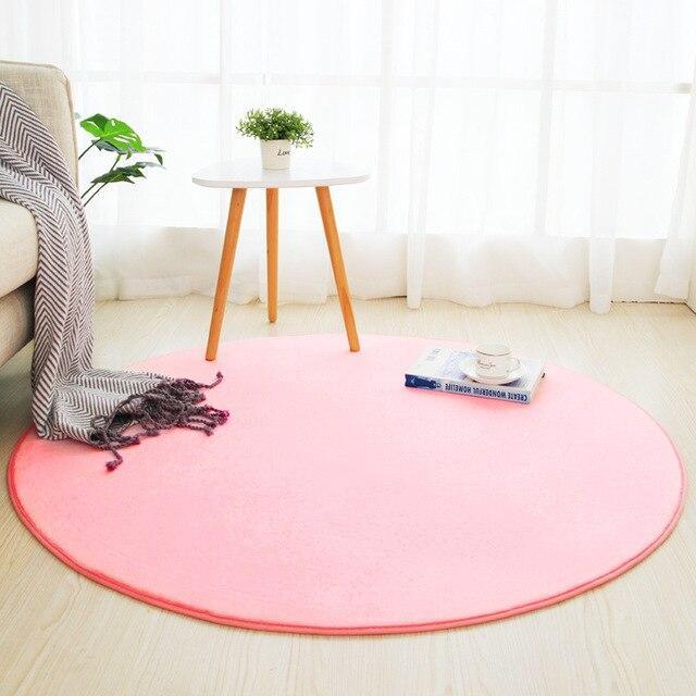 Runder Teppich <br> Bonbonrosa