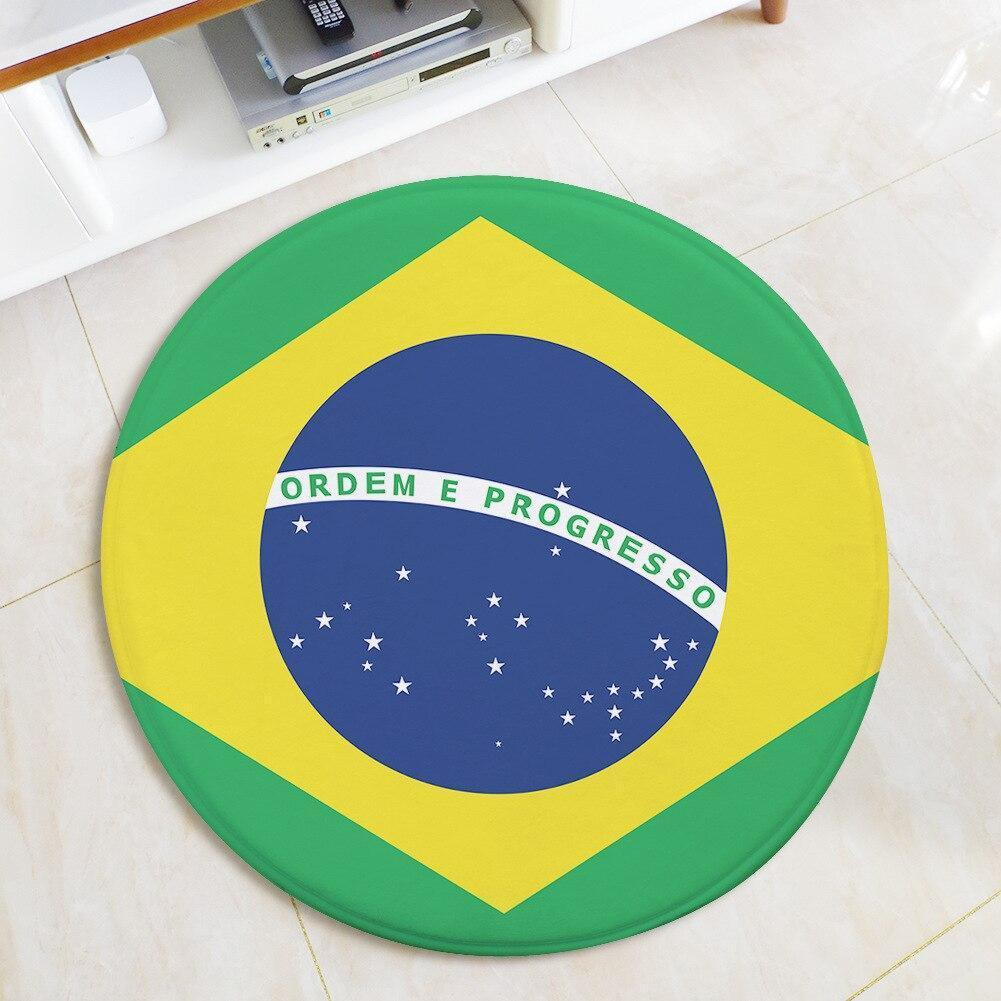 Runder Teppich <br> Brasilien