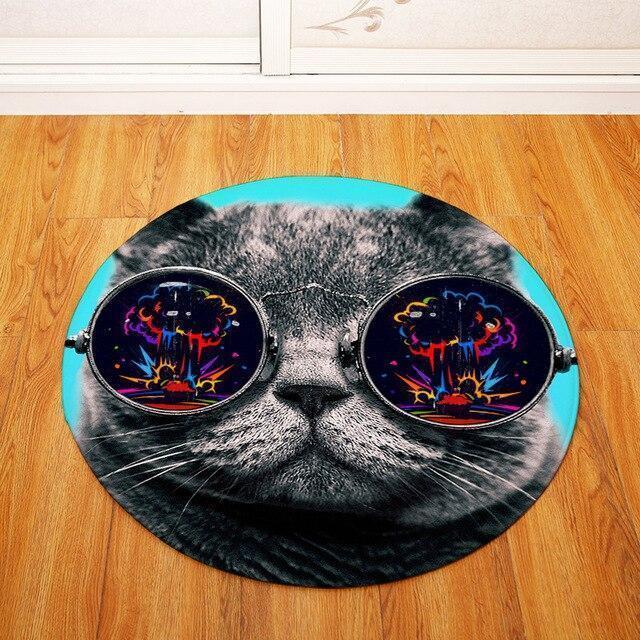 Runder Teppich <br> Brille