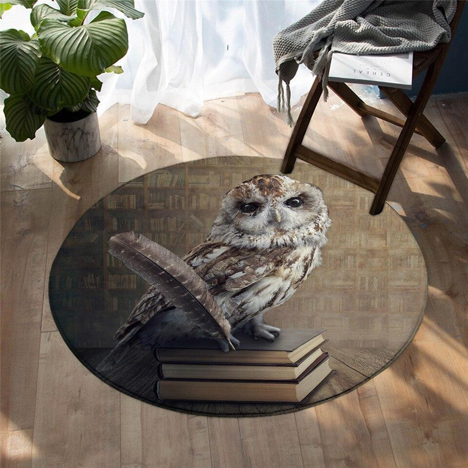 Runder Teppich <br> Buch