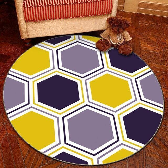 Runder Teppich <br> Bunte Geometrie