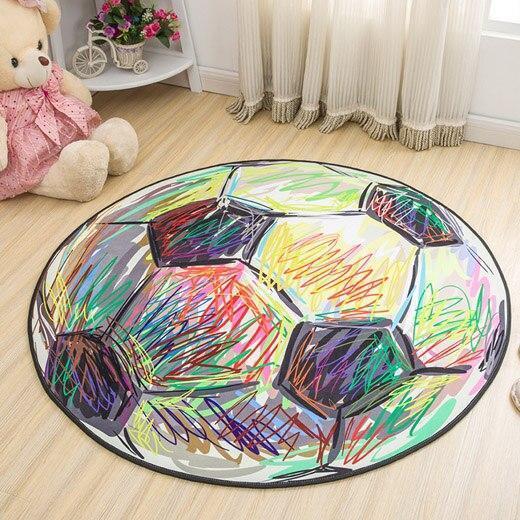 Runder Teppich <br> Bunter Ball