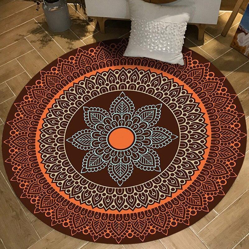 Runder Teppich <br> Buntes Muster