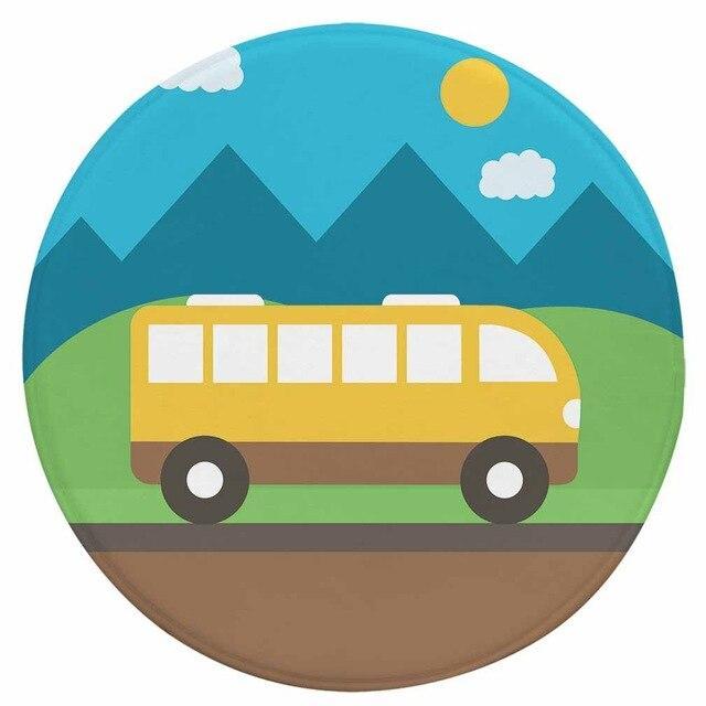 Runder Teppich <br> Bus