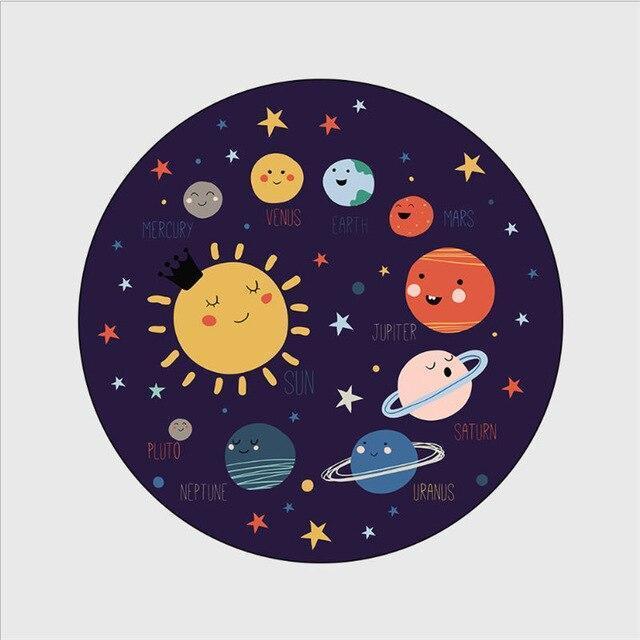 Runder Teppich <br> Das Sonnensystem