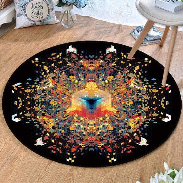 Runder Teppich <br> Der Kubus