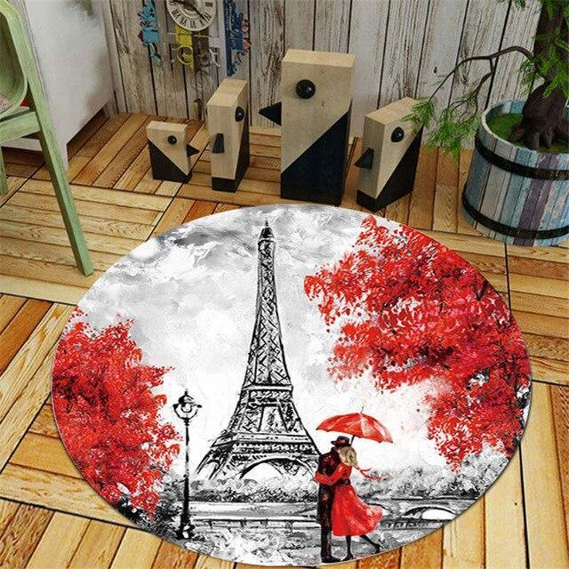 Runder Teppich <br> Eiffelturm