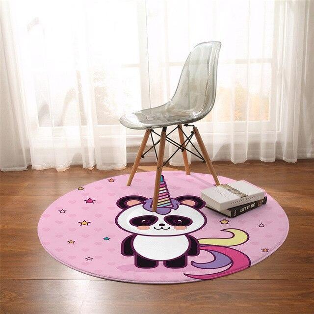 Runder Teppich <br> Einhorn Panda